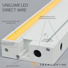 under cabinet lighting switch unilume led direct wire undercabinet by tech lighting at