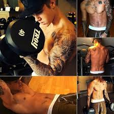 justin bieber workout routine for the upper body chest back arms