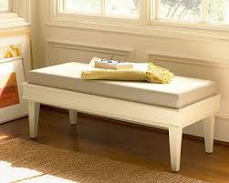 Wooden Bench With Cushion 3 Stylish Benches By Pottery Barn Furniture