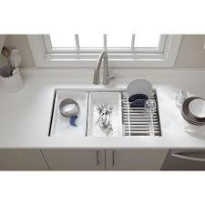 Bathroom Sink Accessories by Kohler Prolific Undermount Stainless Steel 33 In Single Bowl