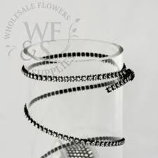 black faux decorative ribbon 3mm wholesale flowers and