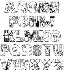 coloring pages childrens alphabet coloring pages download and
