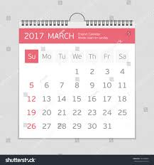 2017 march calendar template flat graphics stock vector 567489004