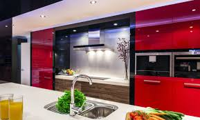 red modern kitchen contemporary kitchen cabinets stylish modern and versatile