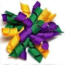 mardi gras bow mardi gras whirlie dog hair bow accessories hair bows