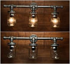 diy mason jar light with iron pipe image result for diy mason jar light with iron pipe around the
