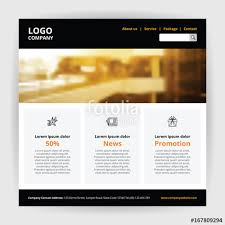 website one page easy template black header with logo company