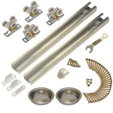Barn Door Track System Home Depot by Johnson Hardware 111sd Series 72 In Track And Hardware Set For 2