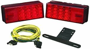 how to change bulb in wesbar tail light amazon com wesbar 407540 waterproof led low profile tail light kit