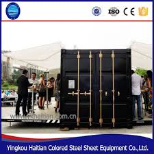 hydraulic container houses shipping 20ft home container cafe for