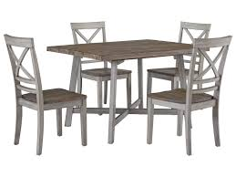 dining room table and chair sets standard furniture fairhaven rustic two tone table and chair set
