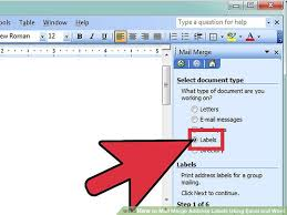 mail merge from excel how to mail merge address labels using excel and word 14 steps