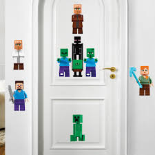 Minecraft Bedroom Decals by Minecraft Decal Video Game Wall Decal Murals Primedecals