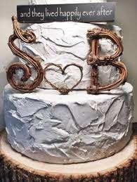 b cake topper letra b rústico grapevine wedding cake topper monogram