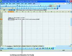 creating links between worksheets and workbooks hour 14