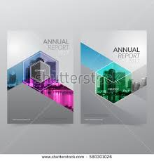 cover layout com annual report flyer presentation brochure front stock vector