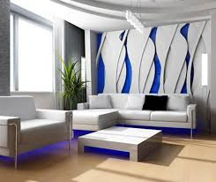Awesome Rustic  Living Room Design Blue Walls Helkkcom - Living room design blue