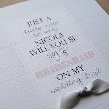 bridesmaid invitations uk personalised will you be my bridesmaid card by button box cards