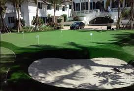 home putting greens backyard synthetic grass putting green