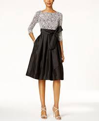 jessica howard sequined lace taffeta fit u0026 flare dress dresses