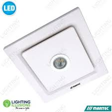 bathroom ceiling fan with light white martec tetra bathroom exhaust fan with 5w led light lighting