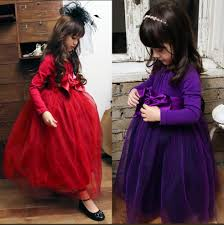 online get cheap kids winter dresses for girls purple dress