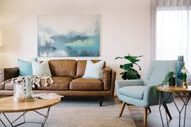 living room wallpaper high definition blue furniture what color