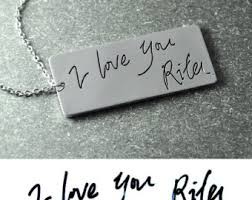 custom handwriting necklace custom handwriting necklace personalized necklace