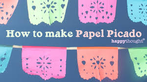 how to make papel picado for day of the dead dia de los muertos