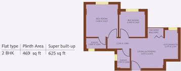 250 Square Foot Apartment Floor Plan by 625 Sq Ft 2 Bhk 2t Apartment For Sale In Macwel Infosystems Ushali