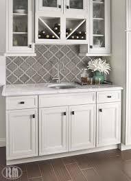 classic white kitchen backsplash