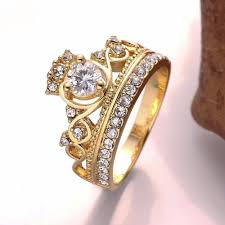 18k real gold plated queen ring micella