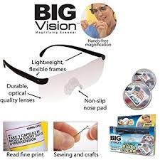 magnifying eyeglasses with light as seen on tv amazon com unisex pro big vision reading as seen on tv bigger