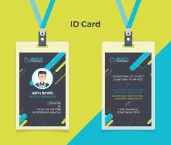 id card graphic design creative id card black blue vector premium download