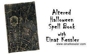 altered halloween spell book youtube