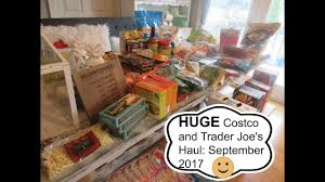 trader joe s gift baskets costco and trader joe s haul september 2017