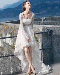 download high low wedding dress with sleeves wedding corners