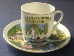 old ellicott city halloween 1950 u0027s enchanted forest md souvenir ceramic cup u0026 saucer set
