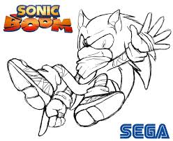 sonic boom coloring pages with omeletta me