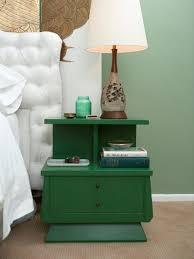nightstand simple two tier green nightstand rend com diy bedroom