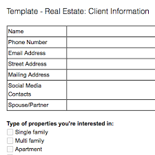 Estate Client Information Sheet Template Note Templates For Estate Evernote Help Learning