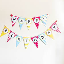 fengrise happy 1st birthday pennant flags baby boy 100