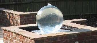 aqua globe garden water features acrylic water features