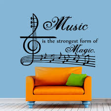 music note wall decal stickers promotion shop for promotional dctop music is the strongest form of magic wall decals vinyl art sticker removable musical notes home decor