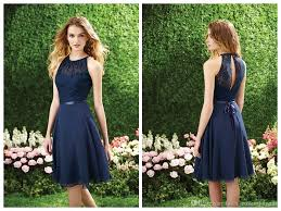 navy blue bridesmaid dresses 2015 chiffon lace a line halter
