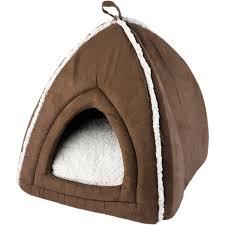 Igloo Dog House Luxury Pet Face Cat Igloo Bed Mollies Kitten Puppy Fleece Cushion