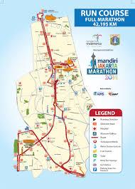 Map Of Jakarta The Jakarta Marathon Festival City Marathon