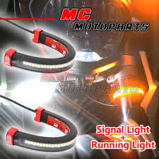 led front fork light turn signal running indicator for husqvarna