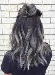 how to blend in gray roots of black hair with highlig the 25 best gray balayage ideas on pinterest balayage hair grey