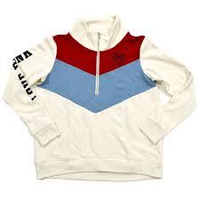 victoria u0027s secret pink high low half zip pullover sweatshirt ivory